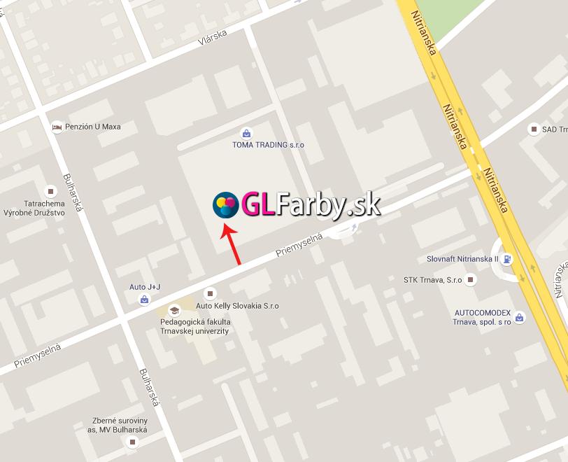 Mapa Trnava GLfarby.sk